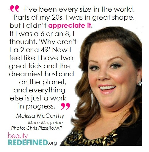 Melissa McCarthy Beauty Redefined