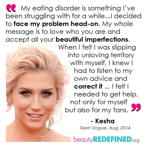 kesha eating disorder beauty redefined