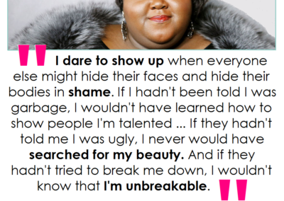 gabourey sidibe dare to show up beauty redefined quote