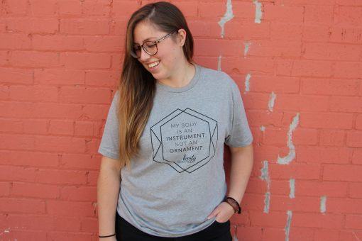 Beauty Redefined Instrument Not Ornament Heather Gray Shirt