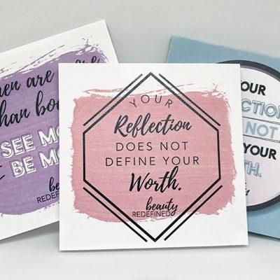 Beauty redefined sticky notes