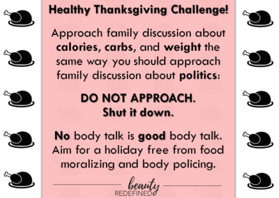 thanksgiving challenge beauty redefined