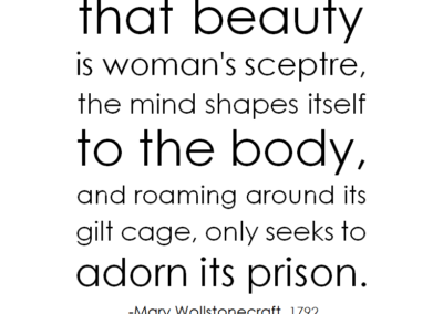 wollstonecraft taught from infancy prison beauty redefined fb